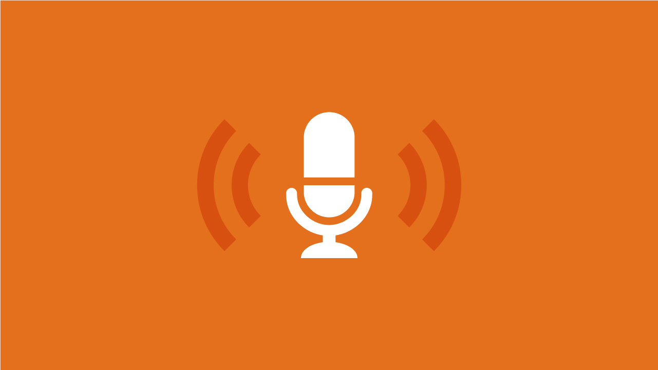 Microphone with sound representing podcasts